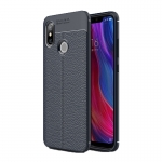 Etui Ipaky Leather Case Xiaomi Mi8 6.21 Granatowe