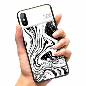Mofi Glass Back Cover iPhone X White Background