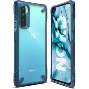 Ringke Fusion X Etui do OnePlus Nord Blue 0016