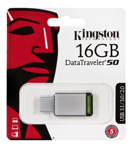 Pendrive Kingston DataTraveler 16GB USB 3.0 DT50