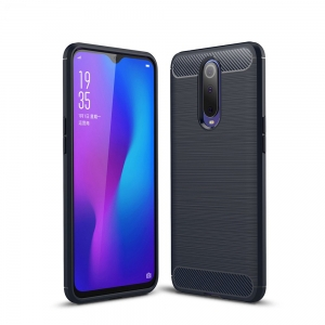 Ipaky Drawing Carbon Oppo RX17 Pro Niebieskie