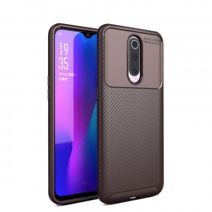 iPaky Carbon Fiber Oppo RX17 Pro Brązowe