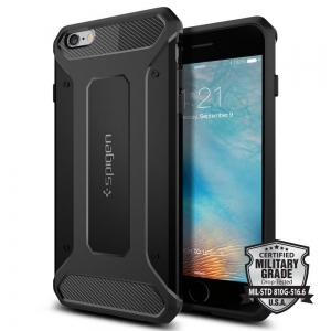 Spigen Rugged Armor etui iPhone 6 / 6S Czarne