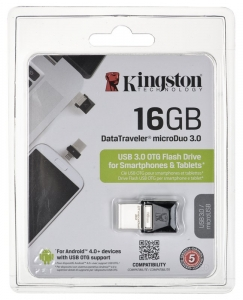 Pendrive Kingston MicroDuo 16GB USB 3.0 USB 2.0