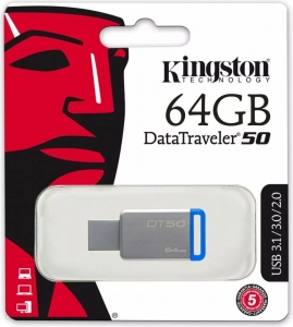 Kingston pendrive DT 50 64GB USB 3.0 niebieski
