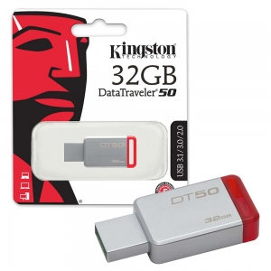 Kingston pendrive DT 50 32GB USB 3.0 czerwony