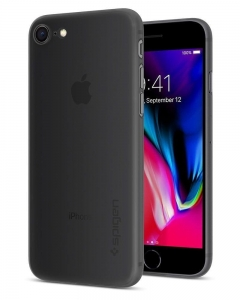 Spigen AirSkin etui 0.36mm iPhone 8 / 7 Czarne