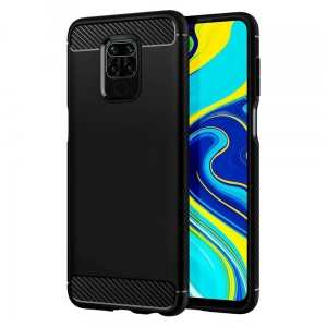 Carbon Case Etui do Xiaomi Redmi Note 9 Czarne