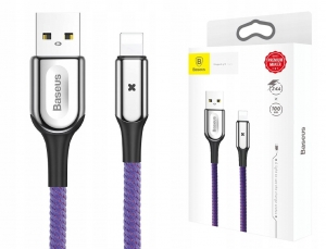 Baseus Kabel Lightning 2.4A 1M Purple CALXD-B05