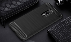 Etui Ipaky Drawing Carbon Meizu 15 Czarne