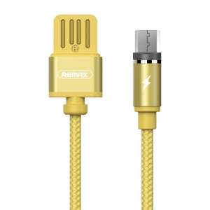 Kabel Remax Gravity RC-095m magnet micro USB Led Złoty